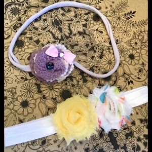 Other - Baby girl grow with me Headband Set